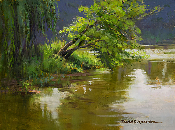 Bowing to the River Flow Painting