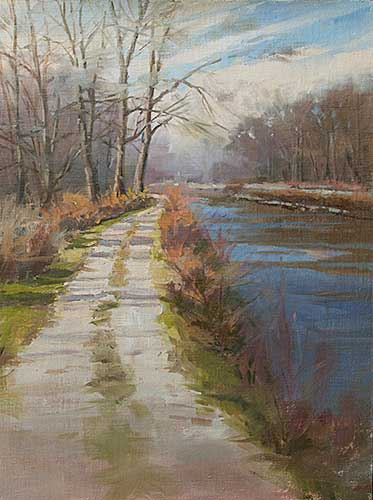Hennepin Canal Road Painting