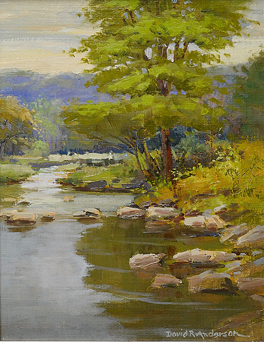 Trout Stream Wisconsin Painting